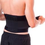 faixa abdominal elástica com velcro