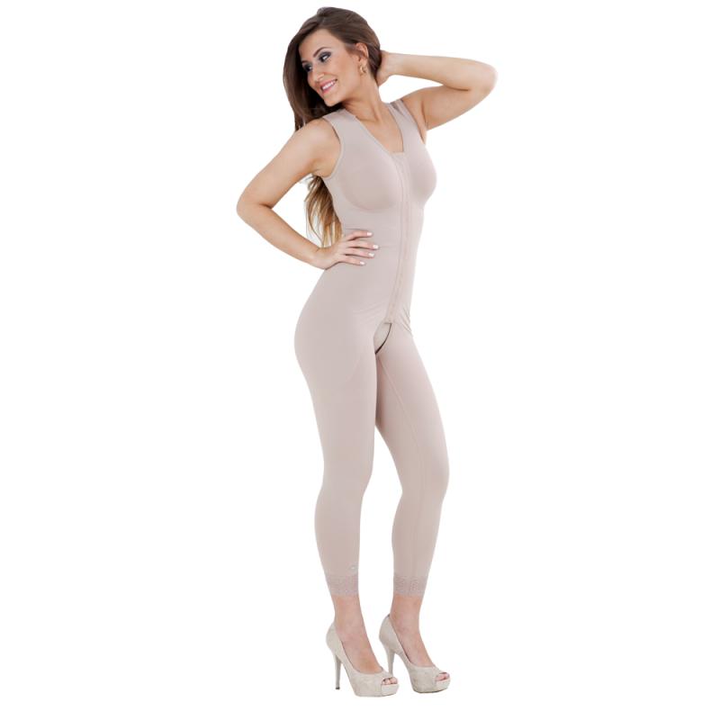 Modelador Curto com Pernas Jabaquara - Modelador Curto com Abertura Frontal